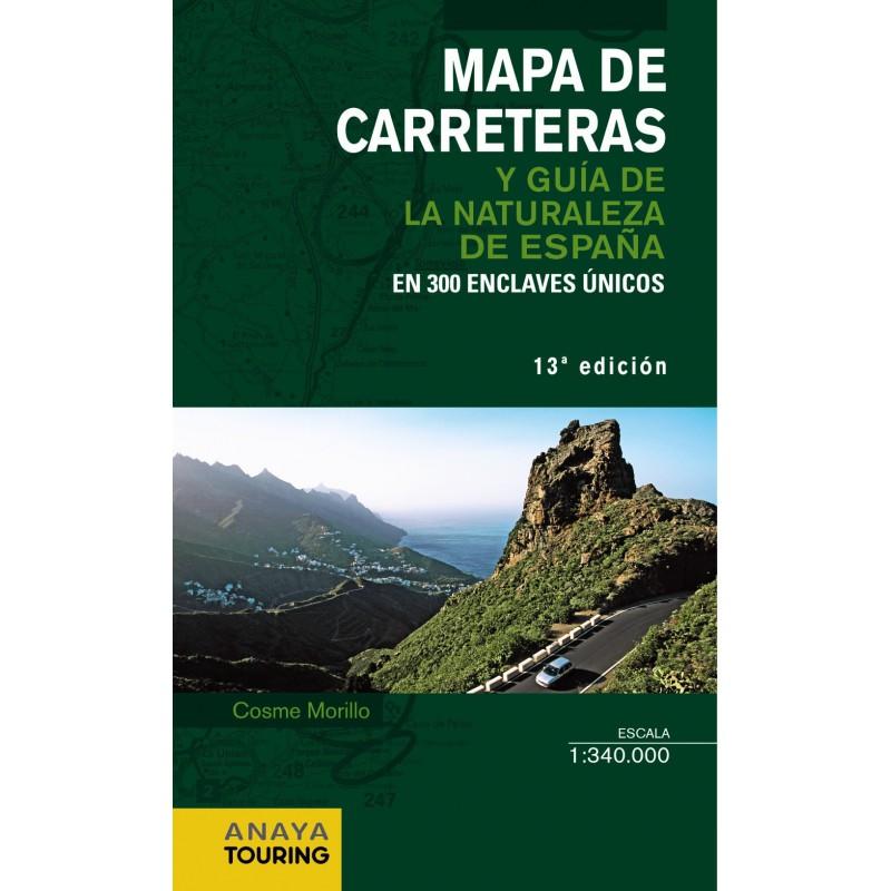 Mapa de Carreteras y Guía de la Naturaleza de España 2014