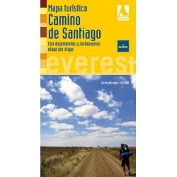 Mapa desplegable del Camino de Santiago