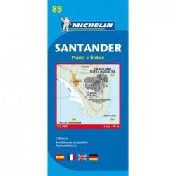 Plano callejero de Santander