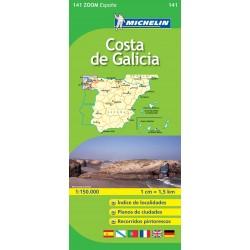 Mapa de carreteras de la costa Gallega