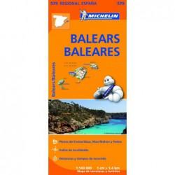Mapa turístico de Baleares