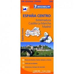 Mapa de Extremadura, Castilla la Mancha y Comunidad de  Madrid