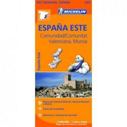Mapa desplegable de carreteras de Comunidad Valenciana y Murcia