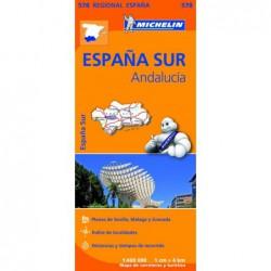 Mapa de carreteras y turístico de Andalucía
