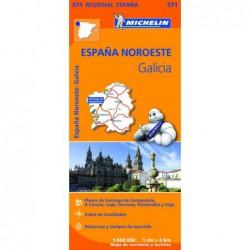 Mapa de carreteras y turístico de Galicia