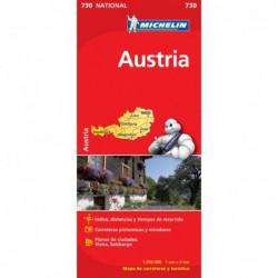 Mapa desplegable de carreteras de Austria