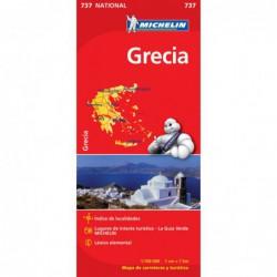 Mapa de carreteras de Grecia