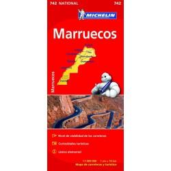 Mapa turístico de carreteras de  Marruecos