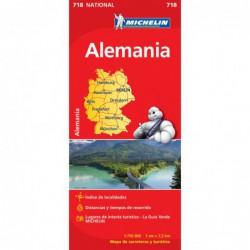 Mapa turístico de carreteras de  Alemania