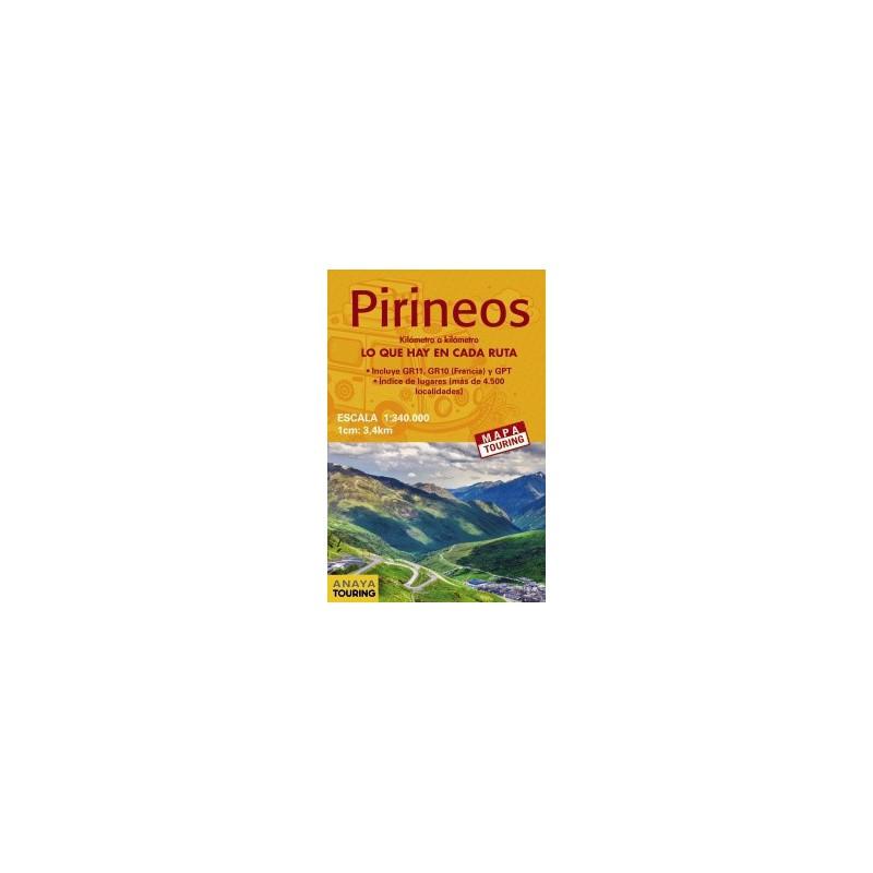 Mapa Pirineos 1:340.000