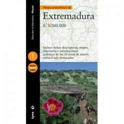 Mapa ecoturístico de Extremadura bilingüe